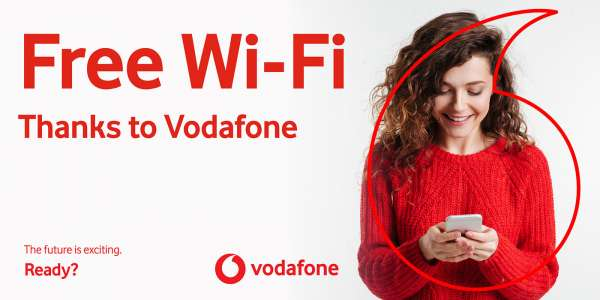 Enjoy free on board Wi-Fi thanks to Vodafone