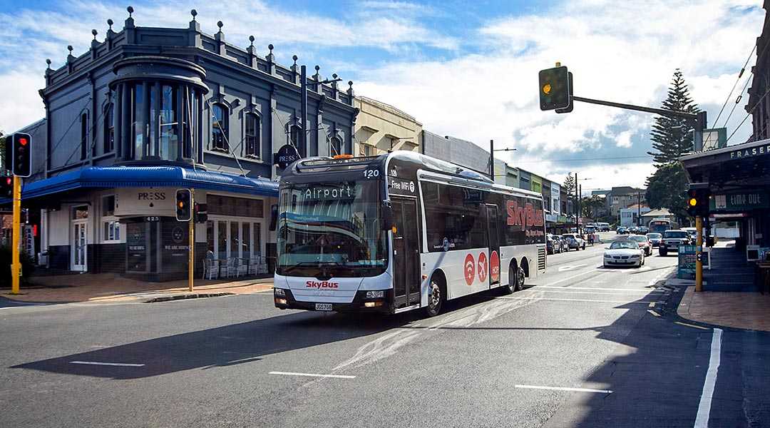 SkyBus in Mt Eden enroute to Auckland