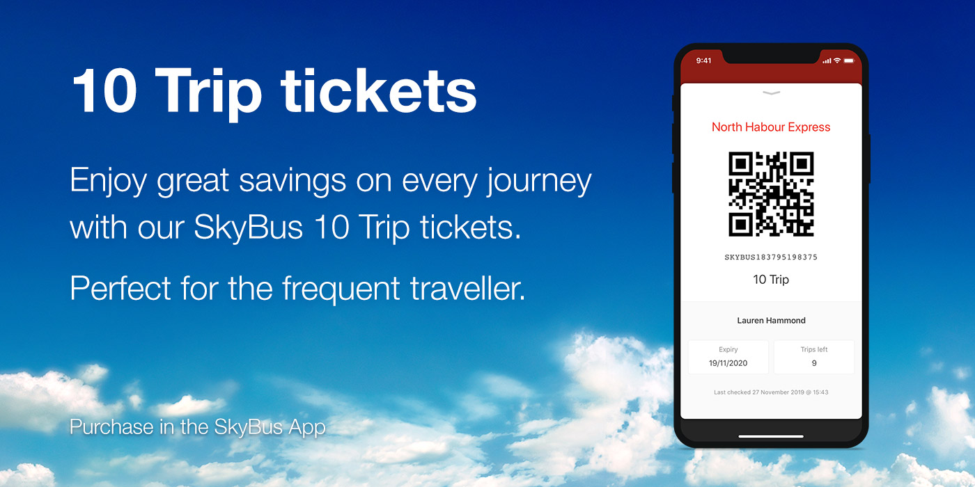 10 Trip tickets – Great savings!
